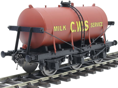 6-wheel milk tanker in 'CWS' red livery