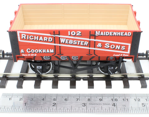"5-plank open wagon with 9ft wheelbase - ""Richard Webster and Sons"""