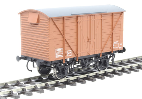 12-ton van with planked sides B758511 in BR bauxite