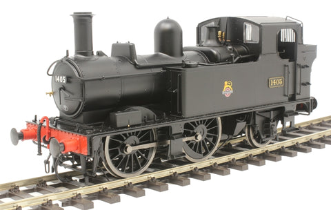 Class 14xx 0-4-2T 1405 in BR black with early emblem - DCC Fitted