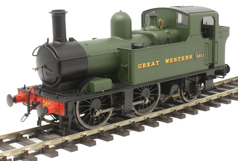 Class 58xx 0-4-2T 5811 in GWR green with Great Western lettering