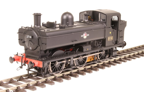 Class 8750 0-6-0PT pannier 3716 in BR Black with late crest - DCC sound fitted