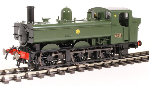 Class 64xx 0-6-0PT pannier 6417 in Great Western green with shirtbutton emblem - DCC fitted