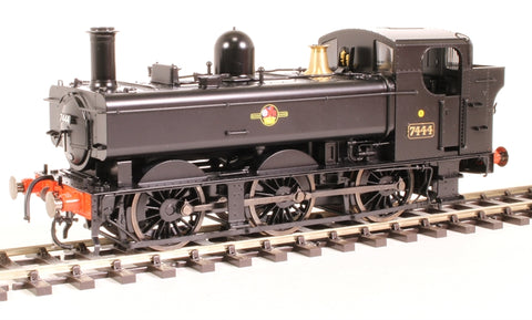 Class 74xx 0-6-0PT pannier 7444 in BR black with late crest - DCC fitted