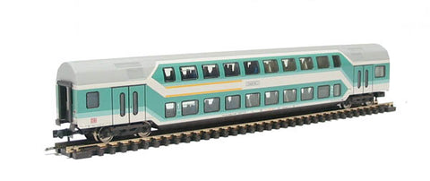 1st/2nd class d/deck coach of the DB in green & grey livery