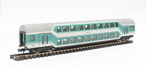 2nd class d/deck coach of the DB in green & grey livery