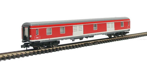Baggage coach of the DB AG in red & white livery