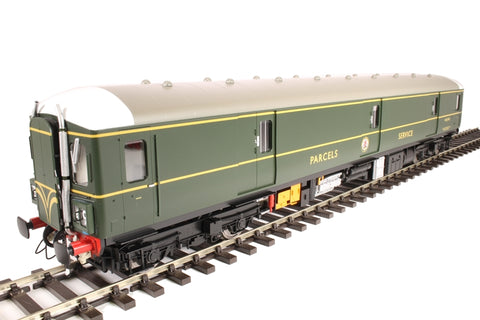 Class 128 parcels DMU W55993 in BR green with speed whiskers