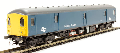 Class 128 parcels DMU M55993 in BR Blue with full yellow ends and flush fronts