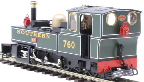 "Lynton & Barnstaple 2-6-2T 760 ""Exe"" in Southern Railway green"