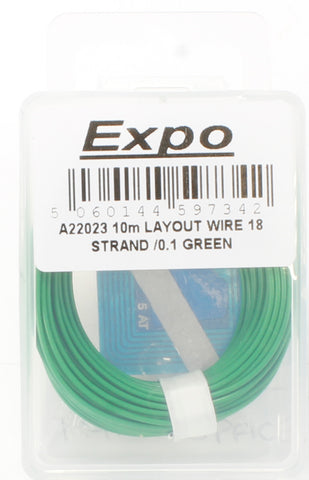 Multicore Wire Green - 10m Roll of 18/0.1mm