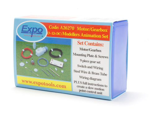 Motor gearbox animation set (ideal for operating points & semaphore signals etc)