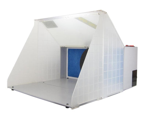 Portable spray booth with extractor fan
