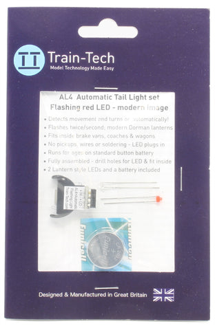 Modern flashing red tail light - automatic effects - battery powered
