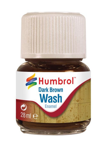 28ml Enamel Wash - Dark Brown