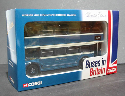 "1:50 scale ""Delaine Buses"" AEC Routemaster half cab rear entrance d/deck bus"