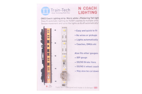 Automatic Coach Lighting - Warm White/Flickering Tail