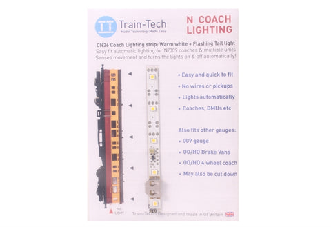 Automatic Coach Lighting - Warm White/Flashing Tail