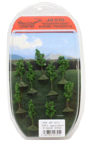 Countryside trees - 50mm - pack of nine