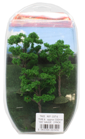 Trees - type 6 - 100mm - pack of three