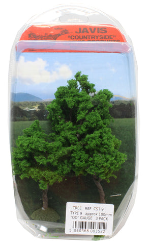 Trees - type 9 - 100mm - pack of three