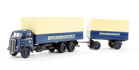 AEC Mammoth van & drawbar van trailer 'Ripponden & District' (circa 1949-1959)