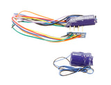 8-pin (harness) 4-function 1.1Amp small & thin decoder with back EMF and 'Stay Alive'