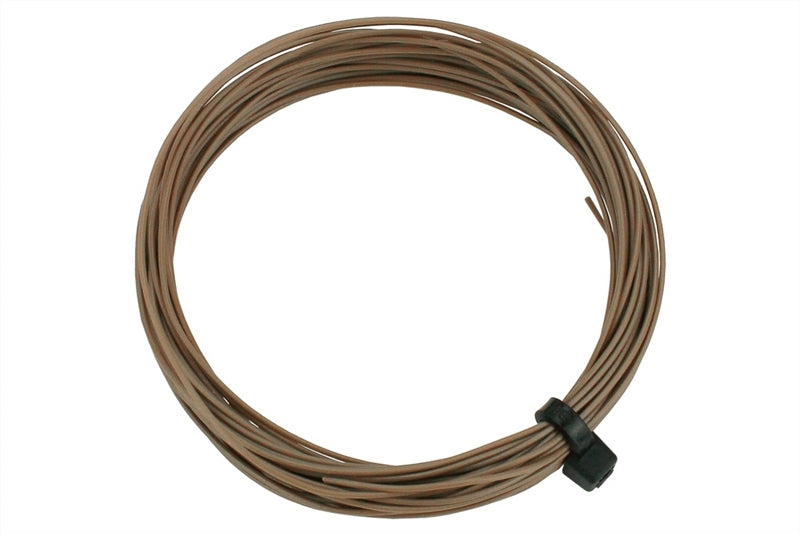 Stranded fine decoder wire - brown - 6 metres