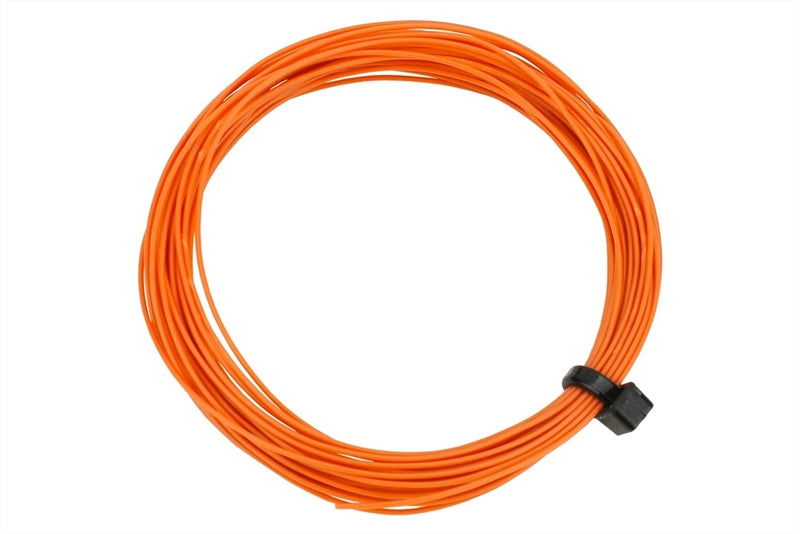 Stranded fine decoder wire - orange - 6 metres
