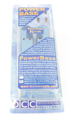 PowerBase N Gauge Value Pack - use to setup PowerBase on 16ft (5 metres) of track - 12 magnets