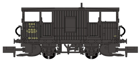 Shark brake van/ballast plough DB993775 'Edinburgh Ballast Sidings' in BR black - Cancelled from production