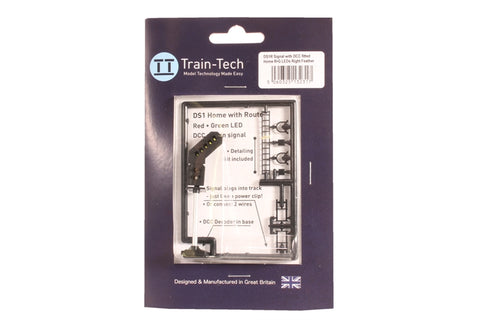 One Touch two aspect signal with right hand feather indicator (red/green) - DCC fitted