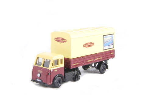 Jen-Helecs Parcels van 'British Railways' with ad posters