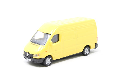 Mercedes-Benz Sprinter van in yellow - Pre-owned - missig outer box