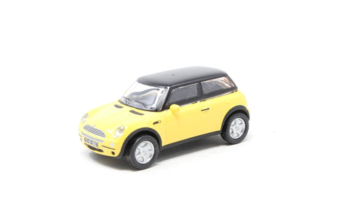 New style Mini Cooper in yellow with black roof - Pre-owned - Like new
