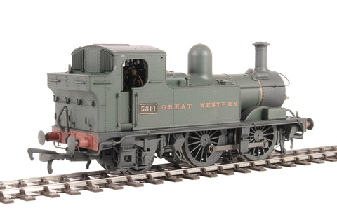 Class 58xx 0-4-2T 5814 in GWR Unlined green with Great Western lettering - Lightly weathered