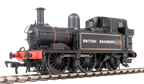 Class 58xx 0-4-2T 5816 in BR Lined black with BRITISH RAILWAYS (Gill Sans)
