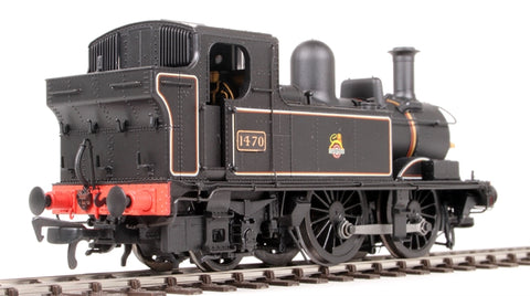 Class 14xx 0-4-2T 1470 in BR Lined black with early emblem