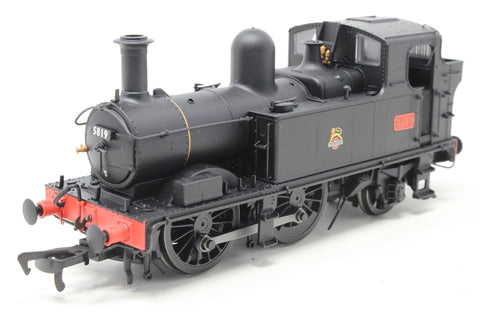 Class 58xx 0-4-2T 5819 in BR Unlined black with early emblem - Open box, Noisy runner