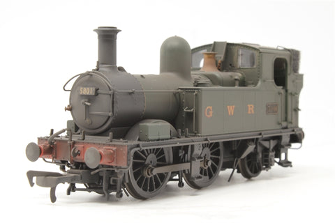 Class 58xx 0-4-2T 5801 in BR Unlined green with G W R lettering - Lightly weathered - Pre-owned - like new