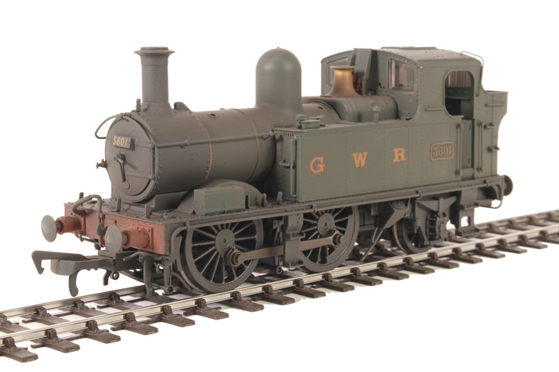 Class 58xx 0-4-2T 5801 in BR Unlined green with G W R lettering - Lightly weathered
