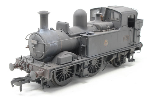 Class 14xx 0-4-2T 1474 in BR Unlined black with early emblem - Heavily weathered - Open box