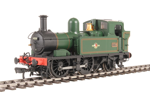 Class 14xx 0-4-2T 1450 in BR Lined green with late crest
