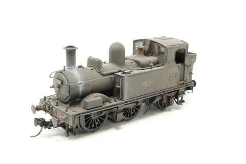 Class 14xx 0-4-2T 1432 in BR Lined green with late crest - Heavily weathered - Pre-owned - DCC fitted - fitted with Kadee couplings - very good box