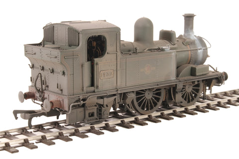 Class 14xx 0-4-2T 1432 in BR Lined green with late crest - Heavily weathered