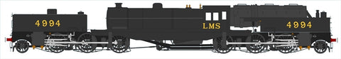 Beyer Garratt 2-6-0 0-6-2 4994 in LMS black