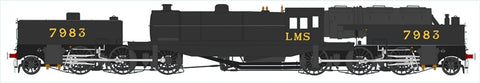 Beyer Garratt 2-6-0 0-6-2 7983 in LMS black