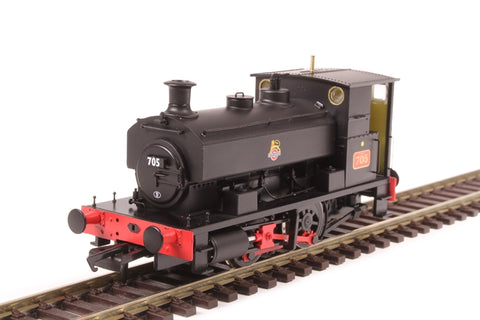 "Andrew Barclay 0-4-0ST 14"" 2047 '705' in BR black with early emblem"