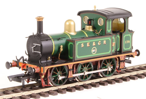 SECR P Class 0-6-0T 178 in SE&CR full lined green (with brass)