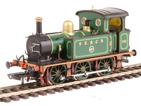 SECR P Class 0-6-0T 753 in SE&CR full lined green (with brass)